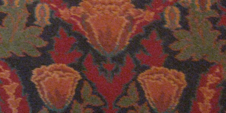 Detail of Her Majesty's Theatre Auditorium Art Nouveau Carpet – Lydiard Street, Ballarat