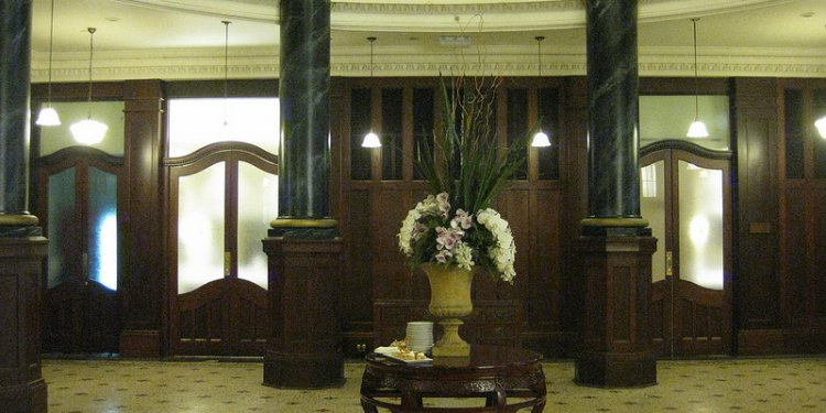 The Foyer of the Rendezvous Grand Hotel (former Commercial Travellers Association) - Flinders Street...