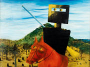 Kelly and Horse by Sidney Nolan, 1946.