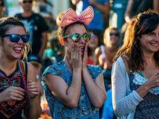 The French celebrate Australia at the Inter-Celtic Festival in Lorient, France. Picture: Alastair Miller